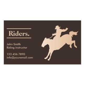 Carte de visite élégant d équitation de cowboy