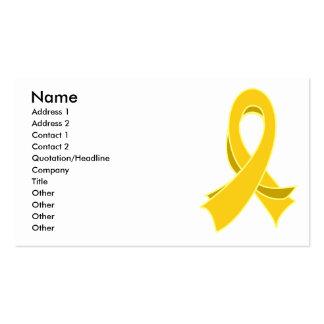 Carte de visite élégant de ruban de Cancer d enfan