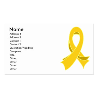 Carte de visite élégant de ruban de Cancer d'enfan