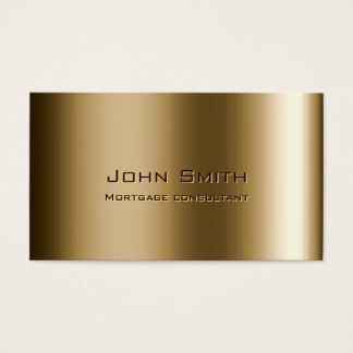 Carte de visite en bronze d'agent d'hypothèque en