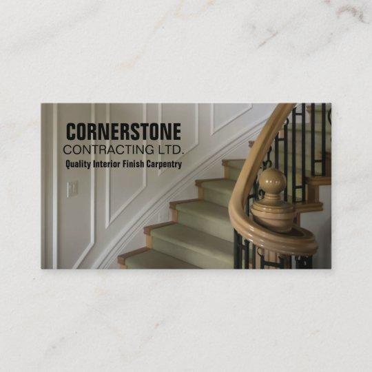 Carte De Visite Quilibres Descalier Dentrepreneur Menuiserie