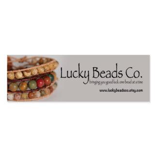 Carte de visite fait main d'affaires de bijoux