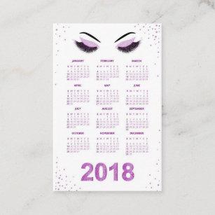 Carte De Visite Femmes Avec Le Calendrier Scintillant Du