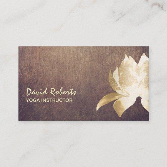 Carte De Visite Fleur Lotus Vintage Dor Dinstructeur