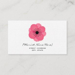 Carte De Visite Fleuriste Floral Concepteur