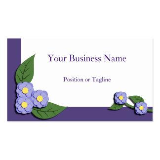 Carte de visite floral violet Papier-Rapiécé