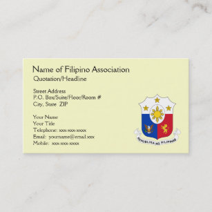Carte De Visite Gnrique Dassociation Philippine