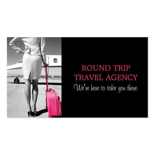 Carte de visite global d'agent d'agence de voyages