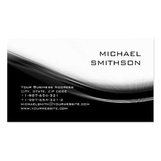 Carte de visite gris blanc noir moderne à la mode