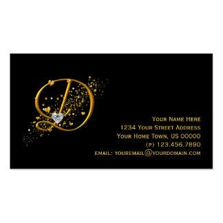 Carte de visite initial de chimères d'or et des