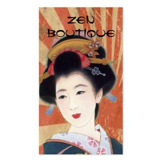carte de visite japonais vintage de boutique de ze