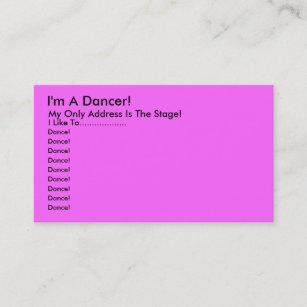 Carte De Visite Je Suis Un Danseur Mon Seulement Adresse Est
