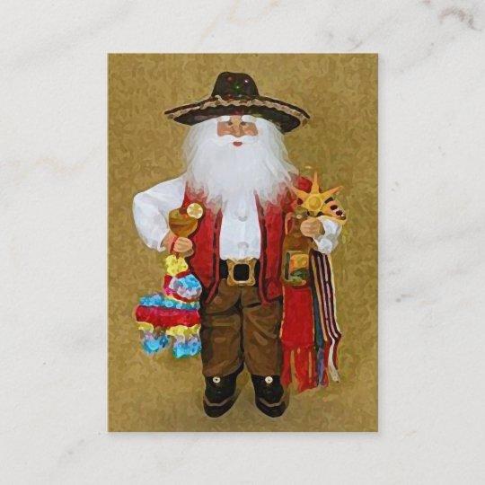 Carte De Visite Le père noël texan du sud ouest mexicain | Zazzle.ca