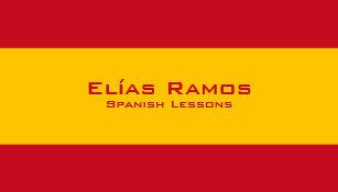 Carte De Visite Leons Espagnoles Professeur Espagnol