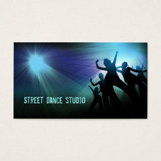 Carte de visite léger bleu de studio de danse de