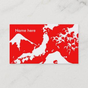 Carte De Visite Les Japonais Du Mont Fuji Impriment Le