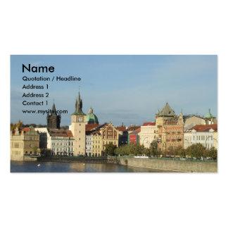 Carte de visite l'Europe d'agent de voyage