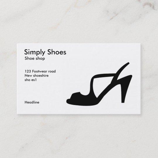 Carte De Visite Magasin Chaussure
