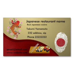 Carte De Visite Magntique Restaurant Japonais