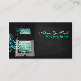 Carte De Visite Makeup Artist Cyan Magic Shimmer Brick