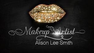 Carte De Visite Makeup Artist Diamonds Sparkle Lips
