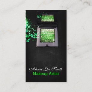 Carte De Visite Makeup Artist Green Magic Shimmer Brick