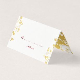 Carte De Visite Mariage Oriental Fleurs Cerisier Blanches