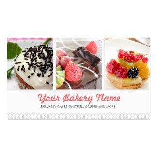 Carte de visite mignon de boulangerie avec 4