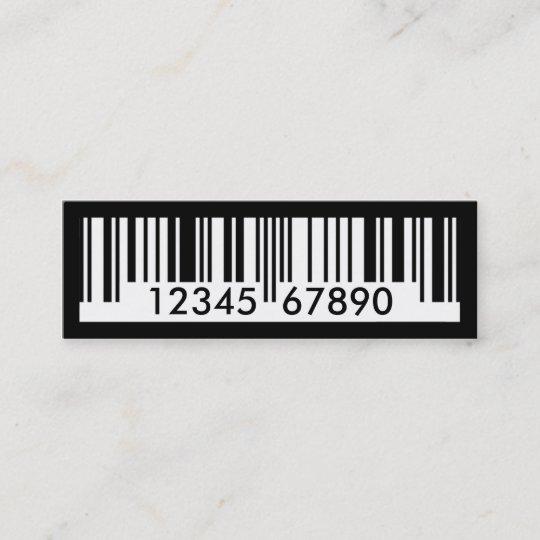 Carte De Visite Mini Code Barres