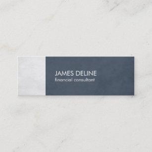 Carte De Visite Mini Conseiller Financier Texturis Bleu Lgant
