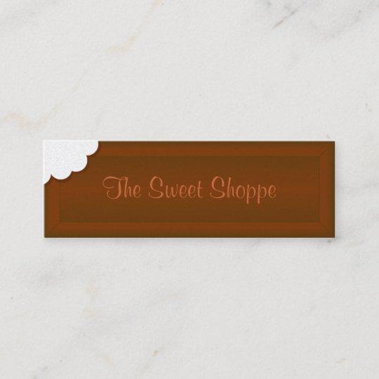 Carte De Visite Mini Prenez Une Morsure Chocolat