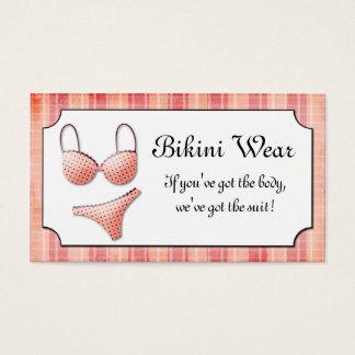 Carte de visite minuscule de plaid de bikini de