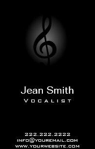 Carte De Visite Musique Lgante Chanteur