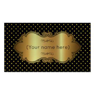 Carte de visite/noir avec le pois d'or carte de visite standard