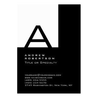 Carte de visite noir blanc à la mode de rayure de