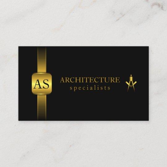 Carte De Visite Noir Et Architecture Boussole Darchitecte