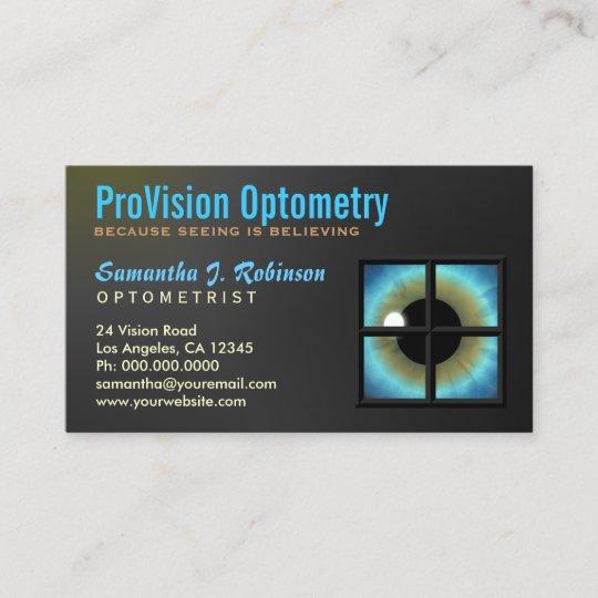 Carte De Visite Oeil Bleu Frais Par LEyecare Doptometriste