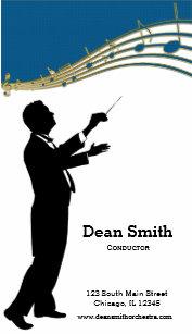 Carte De Visite Orchestre Conducteur