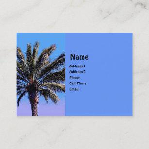 Carte De Visite Palmier Tropical