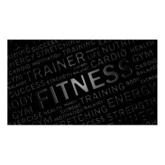 Carte de visite personnel d'entraîneur et de forme