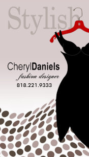 Carte De Visite Peu Couturier Robe Noire Styliste