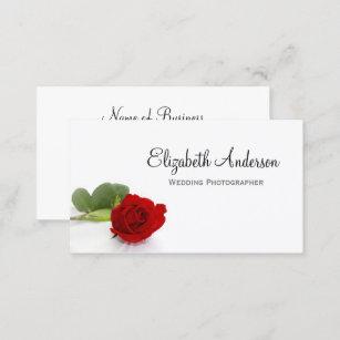 Carte De Visite Photographe Lgant Mariage Rose Rouge