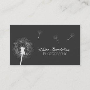Carte De Visite Photographie Gris Fonc Pissenlit
