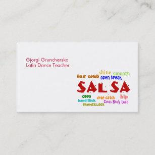 Carte De Visite Professeur Ou Danseur Latin Danse