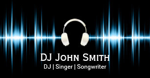 Carte De Visite Professionnel Battement Musique Du DJ