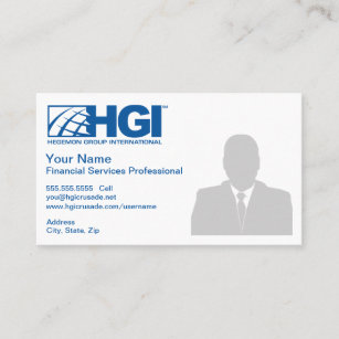 Carte De Visite Professionnel Services Financiers HGI