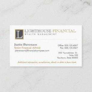 Carte De Visite Professionnel Financier Conseiller Logo
