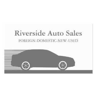 Carte de visite rapide d automobile gris