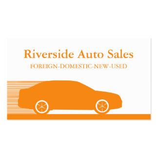 Carte de visite rapide d automobile orange