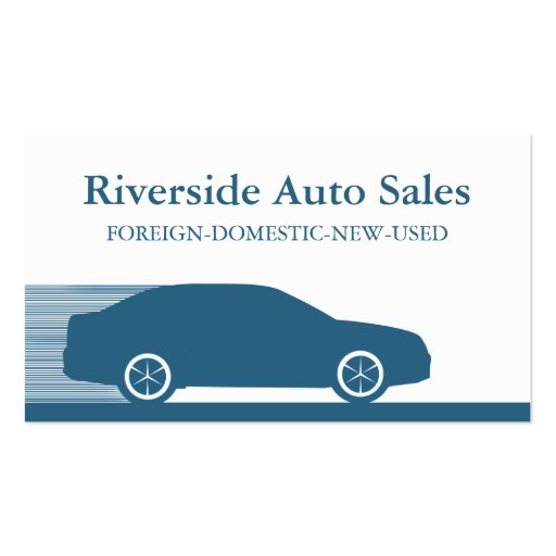 Carte de visite rapide d'automobile, bleu royal
